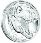 5$ 2017 Tuvalu - Tyrannosaurus Rex - T-Rex 5oz