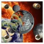 Vorverkauf! 1000 Francs 2016 Burkina Faso - Kopernikus - Heliozentrisches Weltbild mit 5 Meteoriten