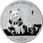1000 Francs 2016 Burkina Faso - Fauna of Asia - Giant Panda