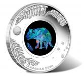 1$ 2014 Australien - Opal Serie - Tasmanischer Teufel