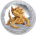 1 $ 2014 Tuvalu - Australiens Reptilien - Dornteufel