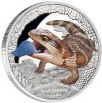 1 $ 2015 Tuvalu - Australiens Reptilien - Blauzungenskink
