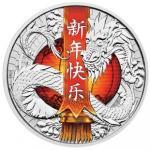 1 $ 2017 Tuvalu - Chinesisches Neujahr - Drache