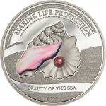 5 $ 2014 Palau - Marine Life Protection - Beauty of the Sea  - Rosa Perle
