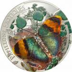 1000 Francs 2014 Zentralafrikanische Republik - Papillons Exoqtiques (Euphaedra neophron) - 3D Schmetterling