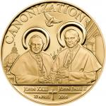 100 Schillings 2014 Tansania - Canonization of the Popes CuAu
