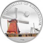 5 $ 2014 Palau - Wunder der Welt - Windmills of Kinderdijk