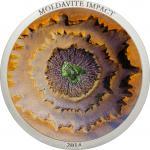 5 $ 2014 Cook Islands - Moldavite Impact Meteorit im Etui