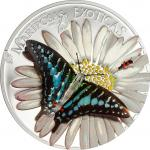 1000 Francs 2015 Equatorial Guinea - Mariposas Exoticas - Graphium pollicenes- 3D Schmetterling