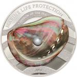 5 $ 2015 Palau - Marine Life Protection - Rainbow of the Sea - Weiße Perle