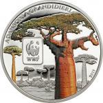 100 Francs 2015 Central African Republic - WWF - World Wildlife Fund - Baobab ( Monkey-Bread-Tree )