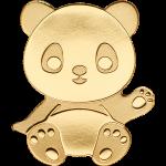 1$ Palau - Special Shapes Gold - Kleine Panda