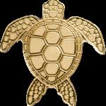 Vorverkauf! 1$ Palau - Golden Sea Turtle Au smartminting©