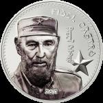 Vorverkauf! 1000 Togrog 2017 Mongolia - Fidel Castro Ag koloriert
