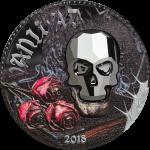 Vorverkauf! 1000 Francs 2018 Equatorial Guinea - Crystal Skull - Vanidad Vanity