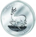 3000 Francs 2014 Gabon - The African Springbock - Antelope 5 oz
