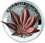 5 $ 2017 Tokelau - Gold Leaf Collection - Japanese Maple Leaf 3D