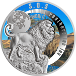 1$ 2016 Niue -  SOS for the World - Barbary Lion