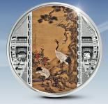20$ 2017 Cook Islands - Masterpieces of Art - Shen Quan - Kiefer, Pflaume und Kräne