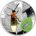 1$ 2017 Niue Island - Bioluminszent Tiere - LAMPYRIS NOCTILUCA Firefly