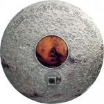 20$ 2017 Cook Islands - Meteorite - Mars the Red Planet 3 oz