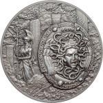 10 $ 2018 Cook Islands - Mythologie Serie - Schild der Athene - Aegis 2oz