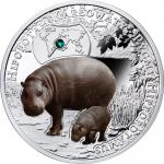 1$ 2016 Niue Island - Endangered Animal Species - Pygmäen Flusspferd