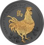2 Pounds 2017 United Kingdom - Golden Enigma - Year of the Rooster