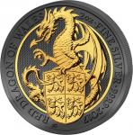 Pre-Sale! 5 Pounds 2017 United Kingdom- Golden Enigma - Queen's Beast - Dragon