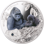 1$ 2014 Niue - Endangered Animal Species - Mountain Gorilla / Berggorilla im Etui