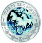 1000 Francs 2014 Rwanda - Lunar series - Jahr des Pferdes  - Achat Pferde 3 Oz