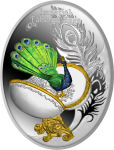 1$ 2017 Niue Island - Imperial Faberge Eggs III Edition - Egg with a Peacock