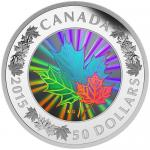 50$ 2015 Kanada - MAPLE LEAF Hologram 5 Oz