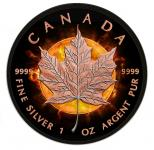 5$ 2016 Kanada - Eclipse of the sun - Maple Leaf