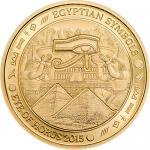 1$ 2015 Palau -  Ägyptische Symbole - Eye of Horus smartminting Au