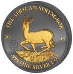 1000 Francs 2015 Gabun - Golden Enigma - African Springbock
