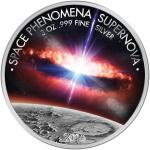 1500 Francs 2016 Burkina Faso - Space Phenomena Supernova 3 oz