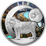 1$ 2016 Niue -  SOS to the World - Kaspischer Tiger
