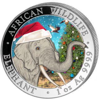 Vorverkauf! 100 Schillings 2018 Somalia - African Wildlife - Elefant in der Schneekugel