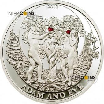 "2 $ Palau 2011 - ""Biblical Stories"" ADAM AND EVE"