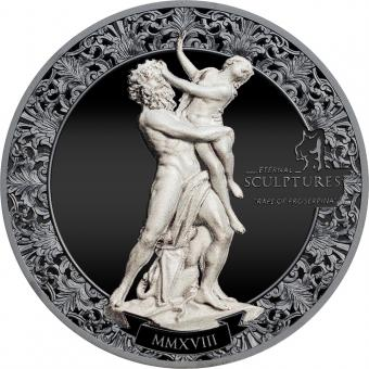 Vorverkauf! 10 $ 2018 Palau - Ewige Skulpturen - Vergewaltigung von Proserpina