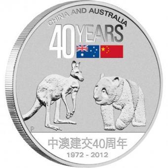 1 $ 2012 Australia - 40 Years Friendship China - Australia