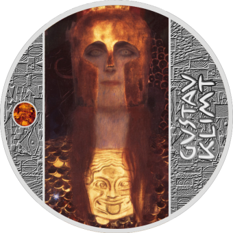 1$ 2019 Niue Island - Gustav Klimt - Pallas Athene - Bernstein