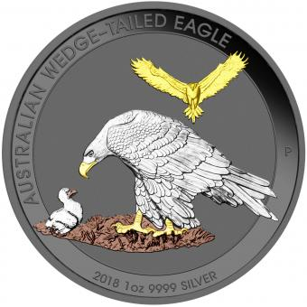 1$ 2018 Australia - Precious Australian Beauties - Wedge - Tailed Eagle