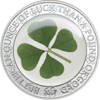 5 $ 2017 Palau - Vierblättriges Kleeblatt / Ounce of Luck