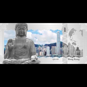 1$ 2017 Cook Islands - Skyline Dollar - Hong Kong