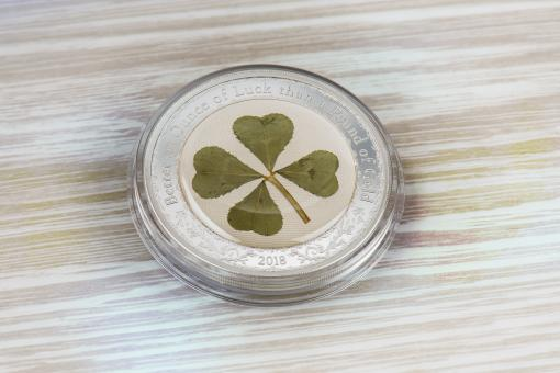 5$ 2018 Palau - Vierblättriges Kleeblatt / Ounce of Luck