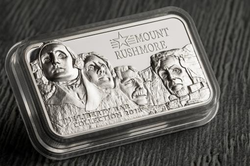 10$ 2018 Cook Islands - The Liberty Bar Collection - Mount Rushmore