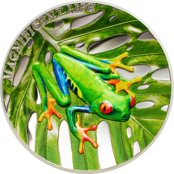 5$ 2018 Cook Islands - Magnificent Life - Laubfrosch