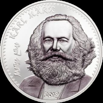 1000 Togrog 2019 Mongolia - Karl Marx - Ag koloriert